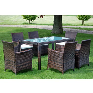 Brown 13 Piece Poly Rattan Furniture Set Vidaxl Au