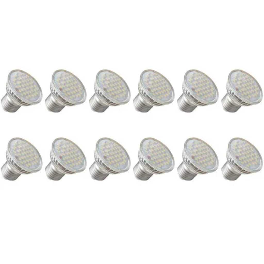 Set 12 spoturi cu LED 3 W E27 imagine vidaxl.ro