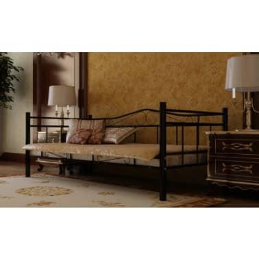 Metalen Bedframe 1 Persoons.1 Persoons Bed Van Metaal 90 X 200 Cm Vidaxl Nl