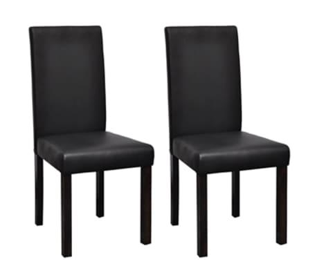 Vidaxl 2 pz sedie sala da pranzo in pelle artificiale nere for Poltroncine per sala da pranzo