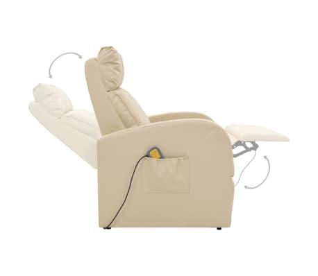 vidaXL Fotoliu de masaj electric cu telecomandă, crem[6/10]