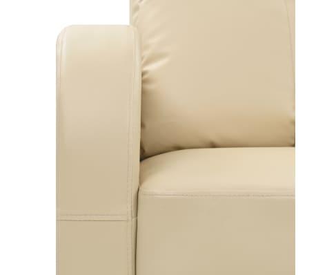vidaXL Fotoliu de masaj electric cu telecomandă, crem[7/10]