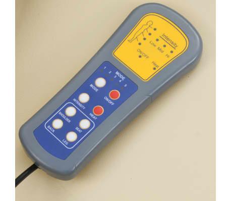 vidaXL Fotoliu de masaj electric cu telecomandă, crem[9/10]