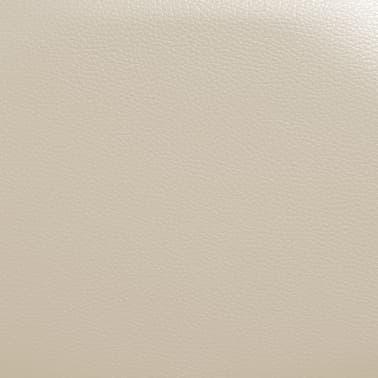 vidaXL Fotoliu de masaj electric cu telecomandă, crem[8/10]