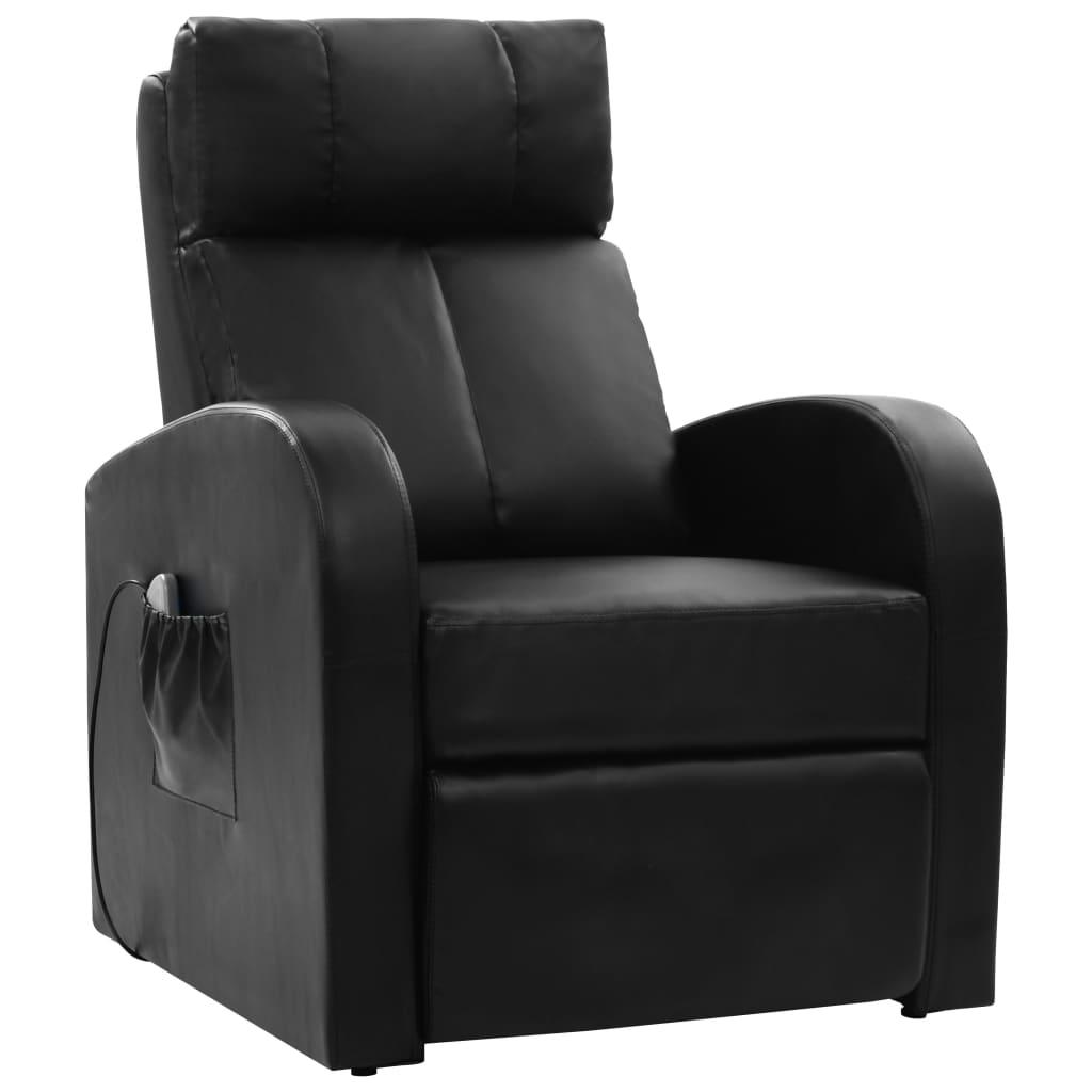 vidaXL Elektrické masážne kreslo s diaľkovým ovládaním, čierne