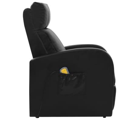 vidaXL Fotoliu de masaj electric cu telecomandă, negru[4/10]
