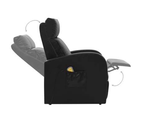 vidaXL Fotoliu de masaj electric cu telecomandă, negru[6/10]