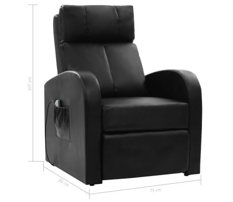 vidaXL Fotoliu de masaj electric cu telecomandă, negru[10/10]