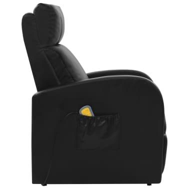 vidaXL Elektrické masážní křeslo s ovládáním, černé[4/10]