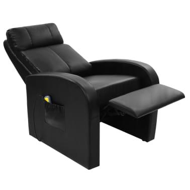 vidaXL Fotoliu de masaj electric cu telecomandă, negru[5/10]