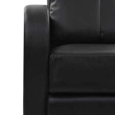 vidaXL Fotoliu de masaj electric cu telecomandă, negru[7/10]