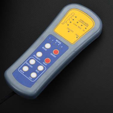 vidaXL Fotoliu de masaj electric cu telecomandă, negru[9/10]