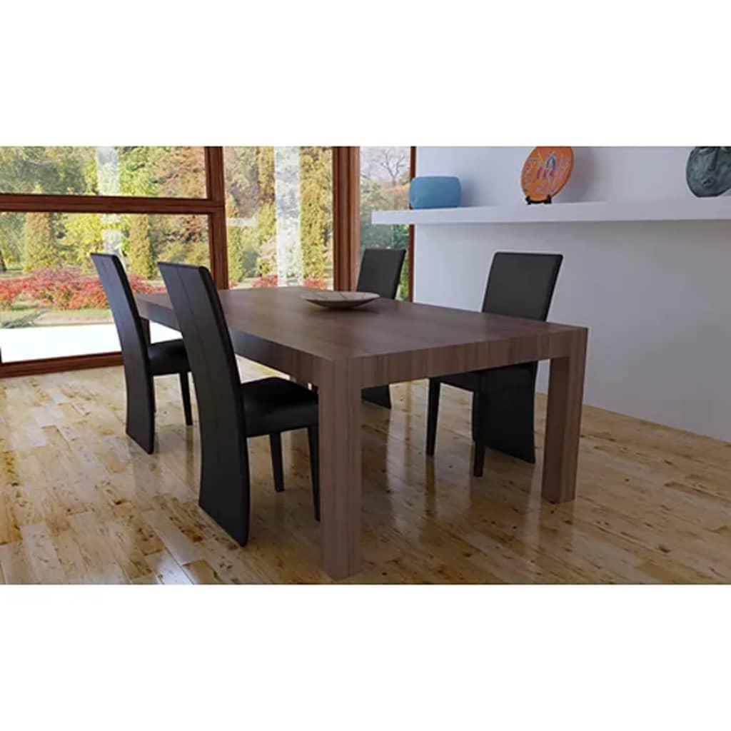 vidaXL Jídelní židle 4 ks tmavě hnědé