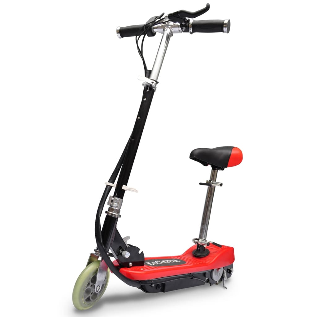 vidaXL Electric Scooter with Seat 120W Red