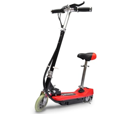 vidaXL Electric Scooter with Seat 120 W Red[1/6]