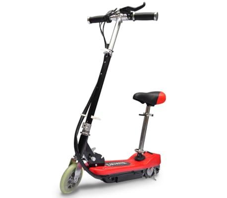 vidaXL Elsparkcykel med sadel 120 W röd[1/6]
