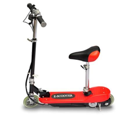 vidaXL Elektrisk sparkcykel med sadel 120 W röd[2/6]