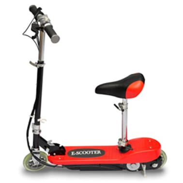 vidaXL Electric Scooter with Seat 120 W Red[2/6]