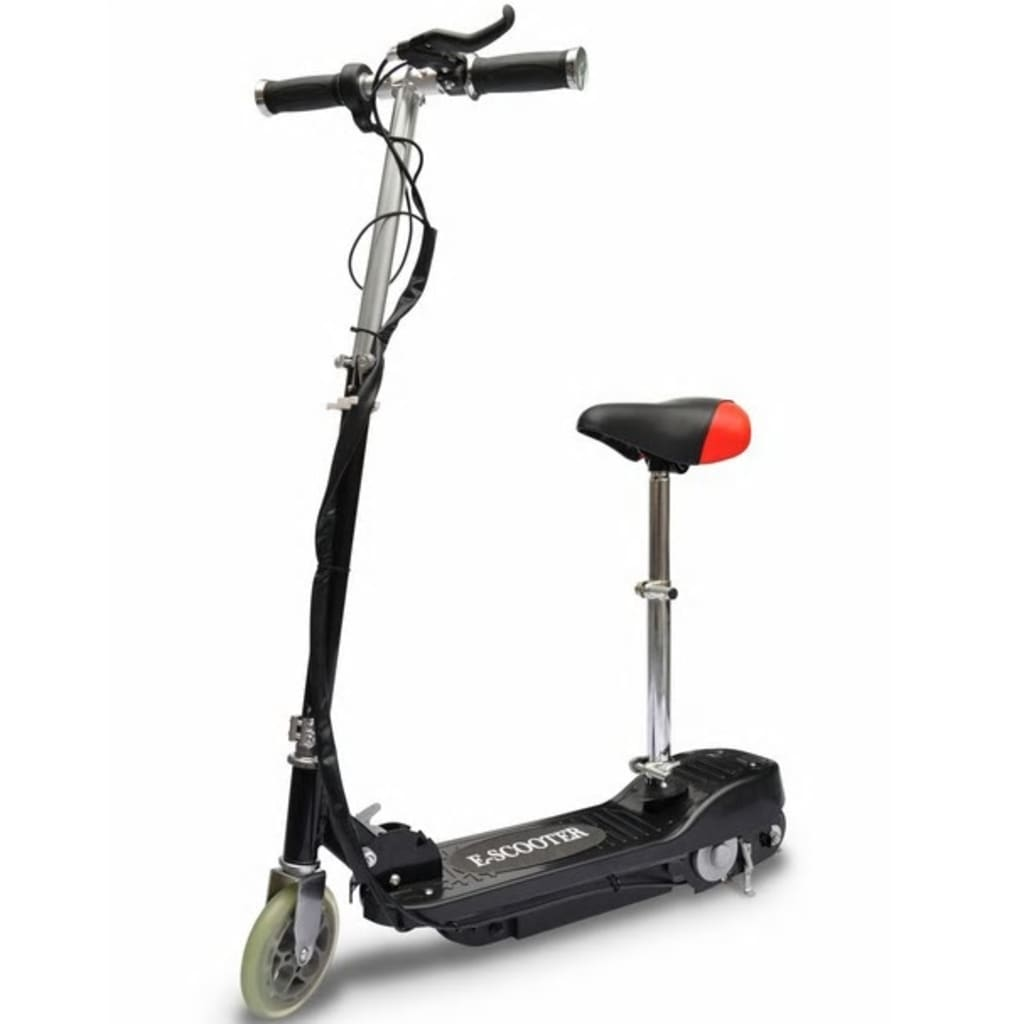 vidaXL Electric Scooter with Seat 120W Black