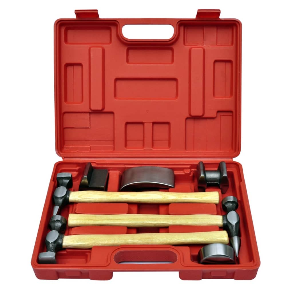 999140159 7-tlg. Karosserie-Ausbeulset Ausbeulhammer Dellen-Reparatur-Set