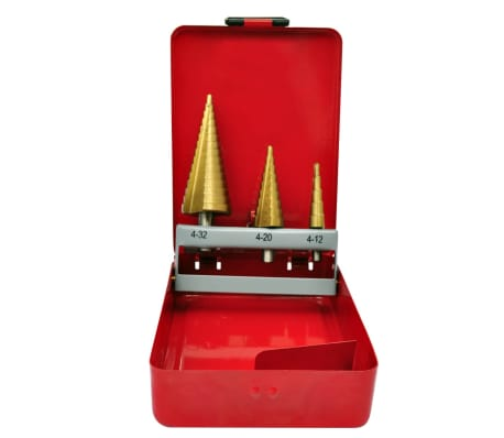 3-Piece HSS Step Drill Set[1/5]