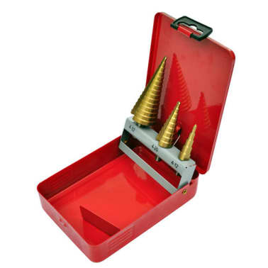 3-Piece HSS Step Drill Set[2/5]