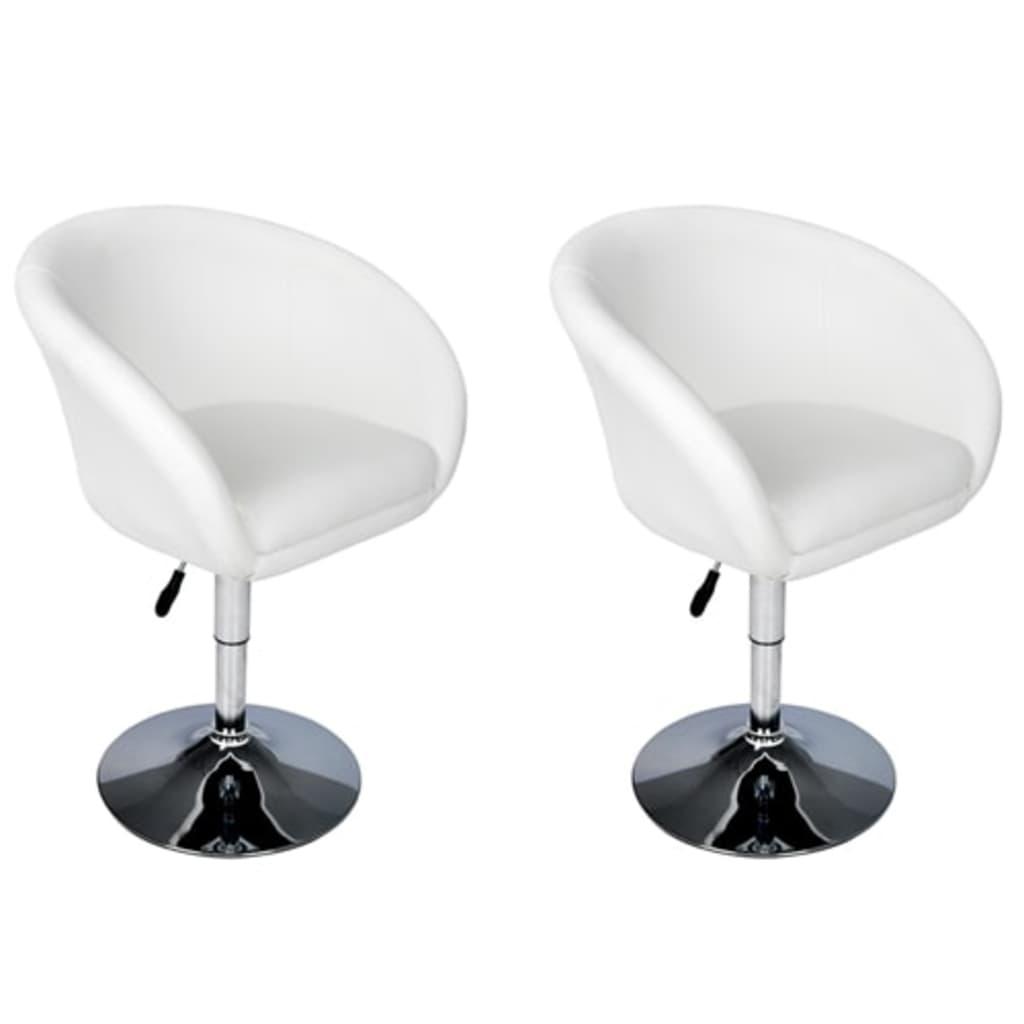 2 x barová židle ve tvaru vaničky, bílá