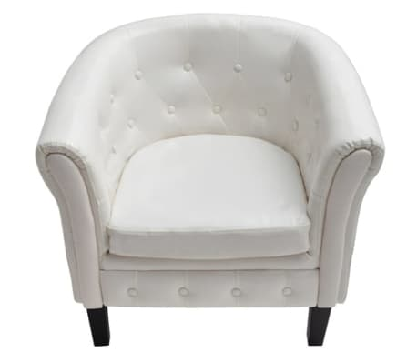 vidaxl sessel kunstleder wei g nstig kaufen. Black Bedroom Furniture Sets. Home Design Ideas