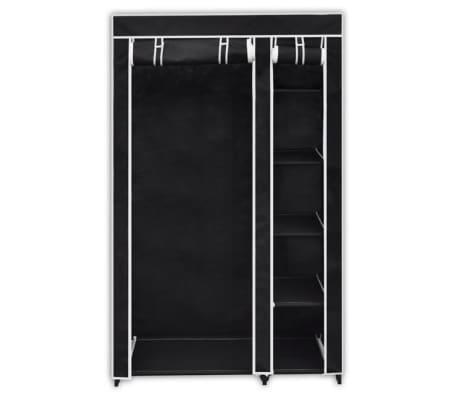 "vidaXL Folding Wardrobe Black 43"" x 18"" x 69""[2/8]"