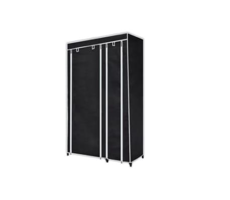 "vidaXL Folding Wardrobe Black 43"" x 18"" x 69""[3/8]"