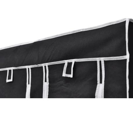 "vidaXL Folding Wardrobe Black 43"" x 18"" x 69""[5/8]"