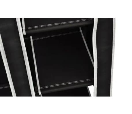 "vidaXL Folding Wardrobe Black 43"" x 18"" x 69""[6/8]"