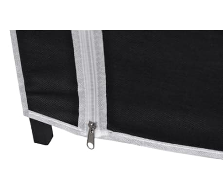 "vidaXL Folding Wardrobe Black 43"" x 18"" x 69""[7/8]"