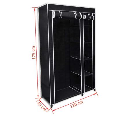 "vidaXL Folding Wardrobe Black 43"" x 18"" x 69""[8/8]"