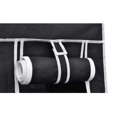 "vidaXL Folding Wardrobe Black 43"" x 18"" x 69""[4/8]"