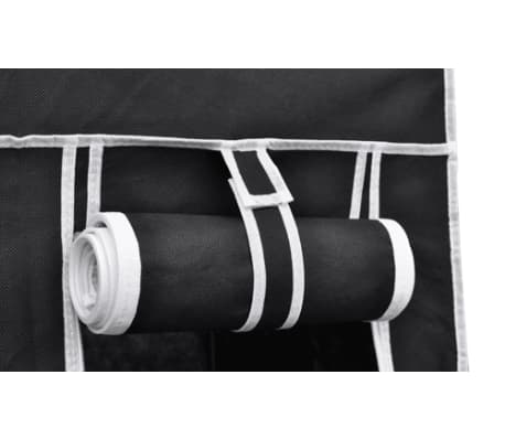 vidaXL Garde-robe en tissu 2 pcs Noir[4/8]