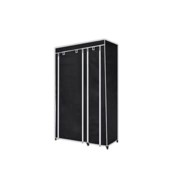 vidaXL Garde-robe en tissu 2 pcs Noir[2/8]