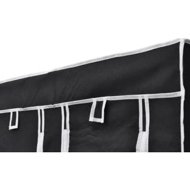 vidaXL Garde-robe en tissu 2 pcs Noir[5/8]