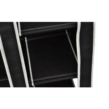 vidaXL Garde-robe en tissu 2 pcs Noir[6/8]