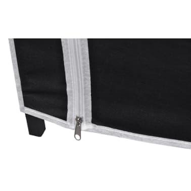 vidaXL Garde-robe en tissu 2 pcs Noir[7/8]