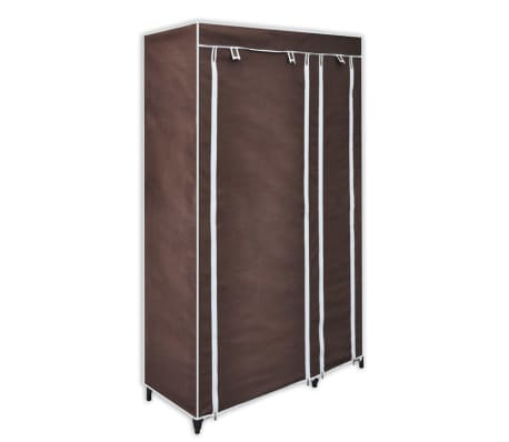 vidaXL Fabric Wardrobes 2 pcs Brown[2/9]