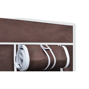 vidaXL Fabric Wardrobes 2 pcs Brown[4/9]