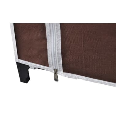 vidaXL Fabric Wardrobes 2 pcs Brown[7/9]