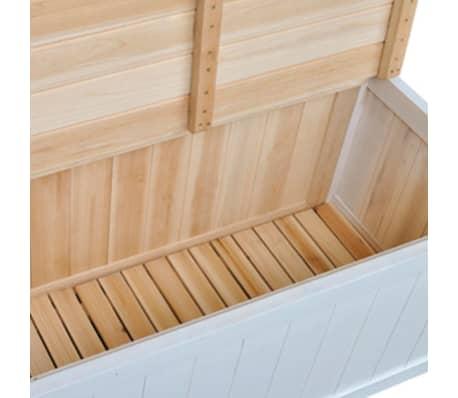 acheter vidaxl banc de rangement 126x42x75 cm bois blanc pas cher. Black Bedroom Furniture Sets. Home Design Ideas