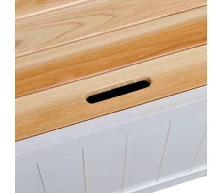 Băncuță din lemn cu compartiment de depozitare[5/7]