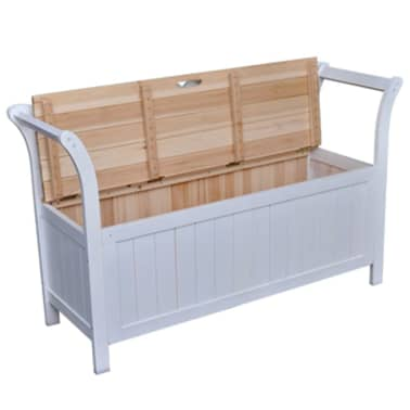 Băncuță din lemn cu compartiment de depozitare[2/7]