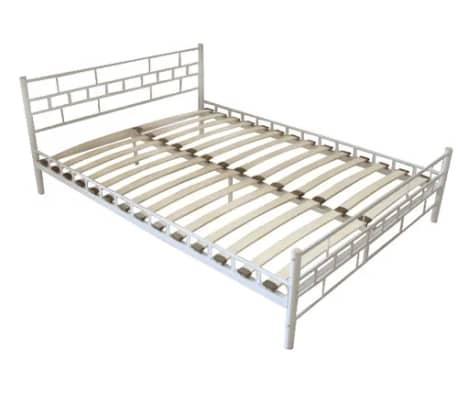 Bedombouw 180 X 200 Cm.Vidaxl Bed Frame White Metal 180x200 Cm