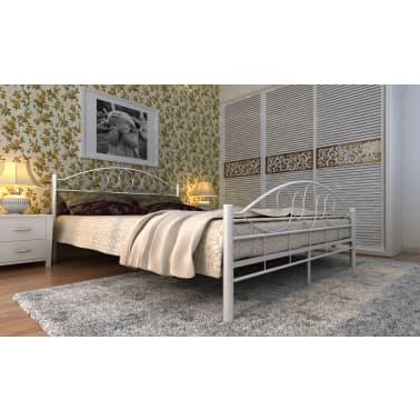 Metalen Bedden Aanbiedingen.2 Persoons Bed Wit Van Metaal 140 X 200 Cm Online Kopen Vidaxl Nl