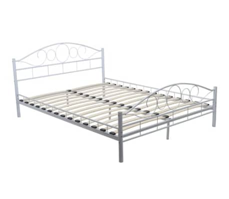 vidaxl metallbett metall doppelbett bettrahmen bettgestell. Black Bedroom Furniture Sets. Home Design Ideas