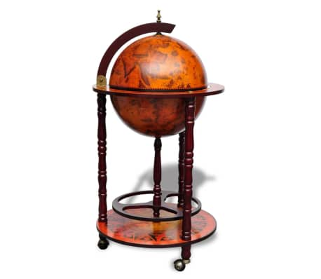 vidaXL Globe Bar Wine Stand Wood[2/8]